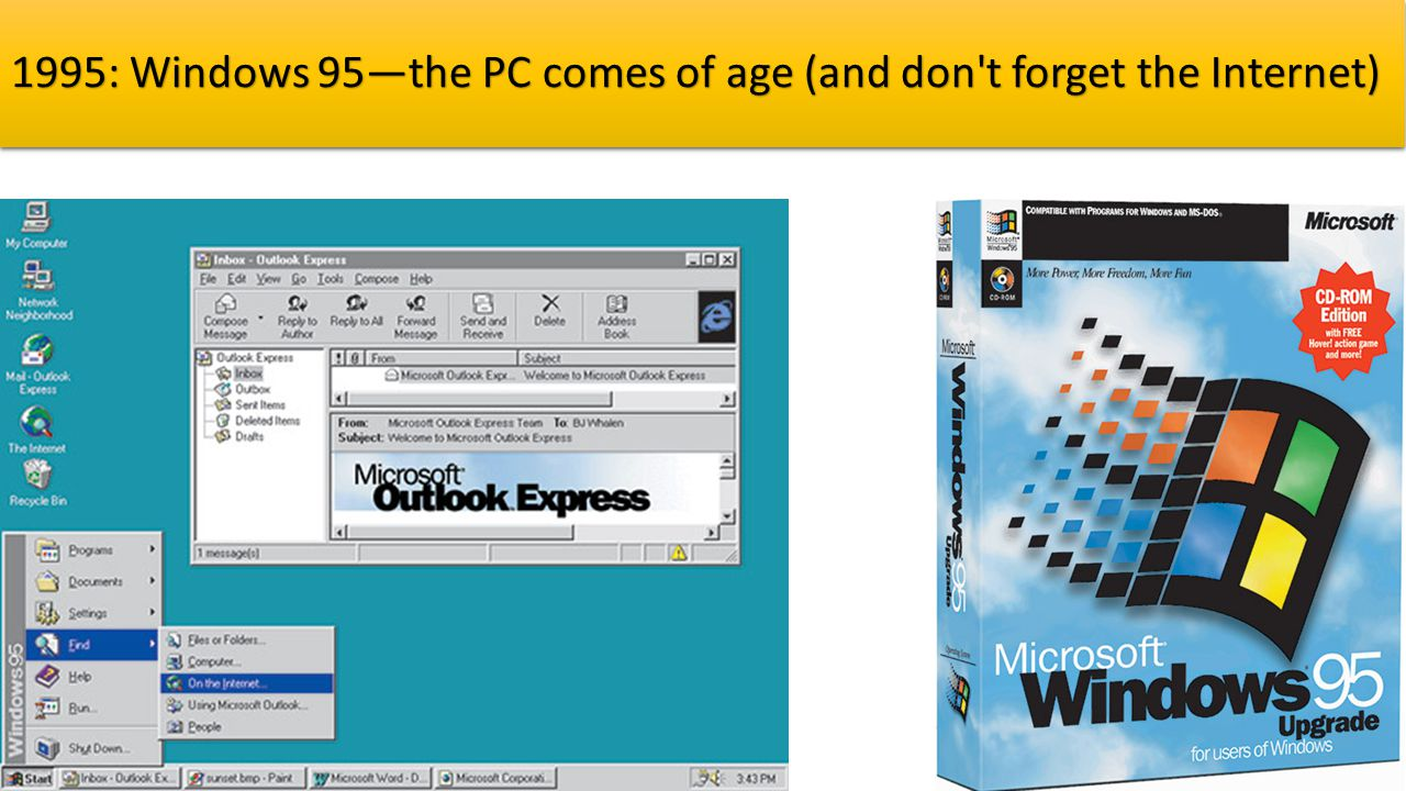 1995: Windows 95—the PC comes of age (and don t forget the Internet)