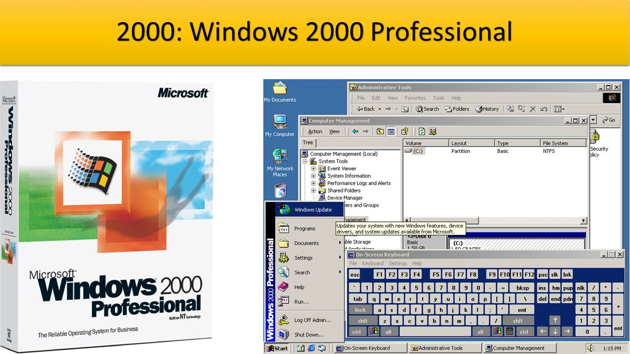 2000: Windows 2000 Professional