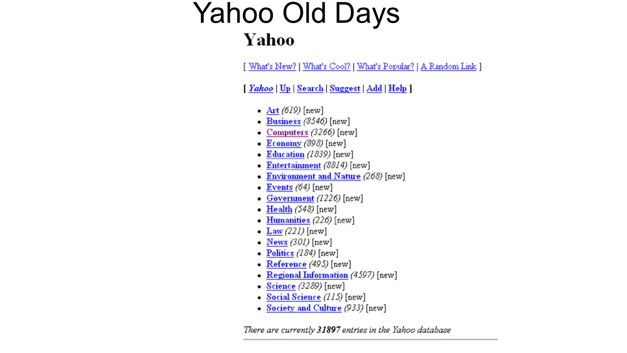 Yahoo Old Days