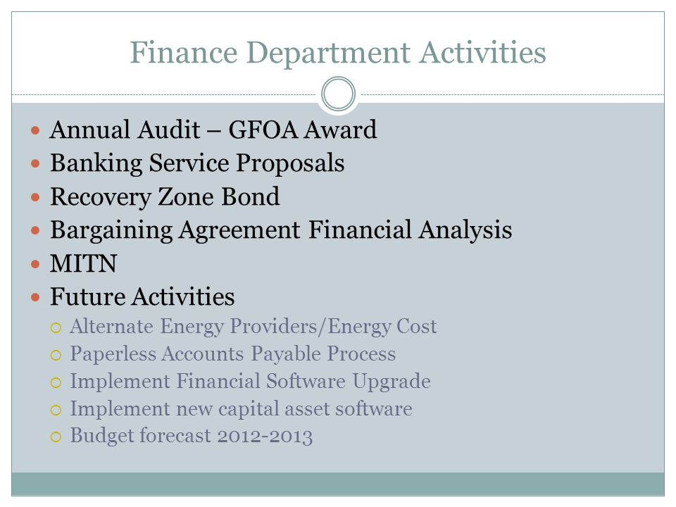Information Technology Department Internal Service Fund (Chargeback and Rental) Operating budget - $334,948  Funded by following funds:  General Fund – 51%  Wastewater Fund – 20%  Water Fund – 24%  Parking, Building Safety, Stores & Equipment – 5% total All operating costs funded  County Contract  Supplies  Licenses and Contracts  Depreciation
