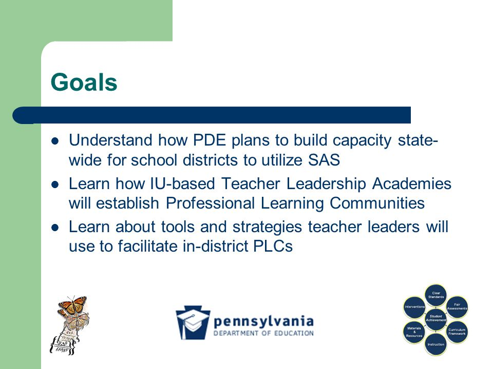Tools and Strategies for Mathematics PLCs Using a Standards Aligned System to enable all PA students to learn mathematics