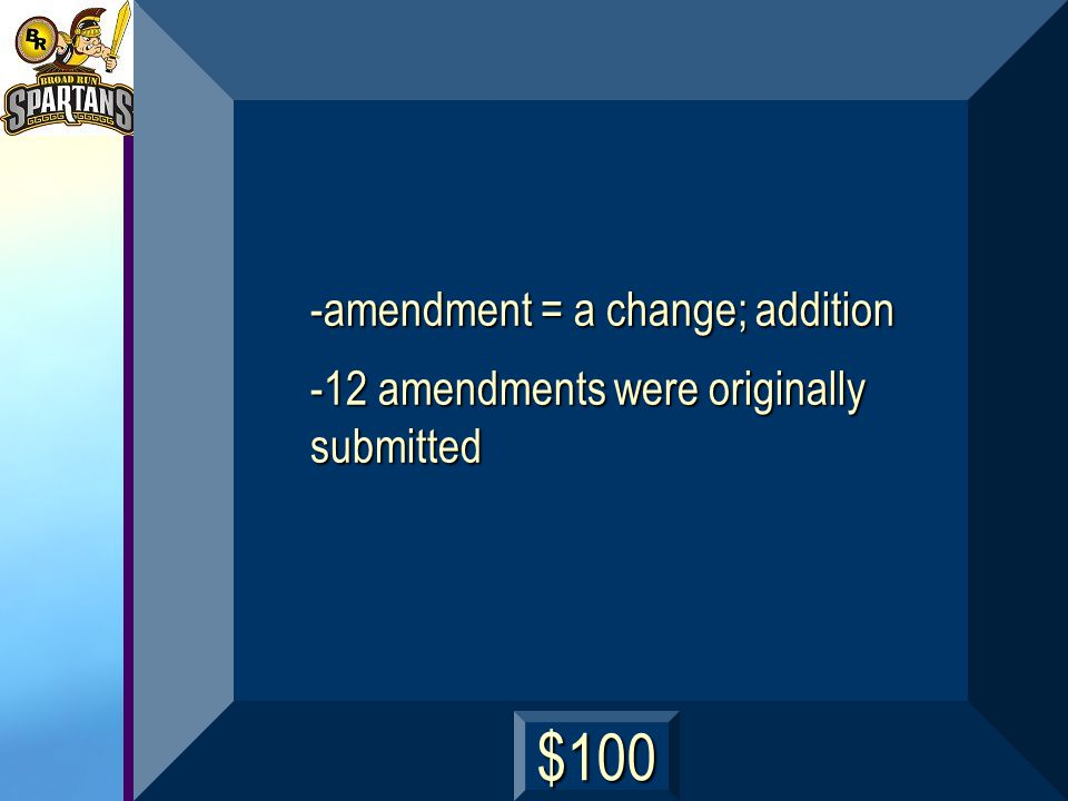 What is an amendment, and how many amendments were originally submitted by Congress? next