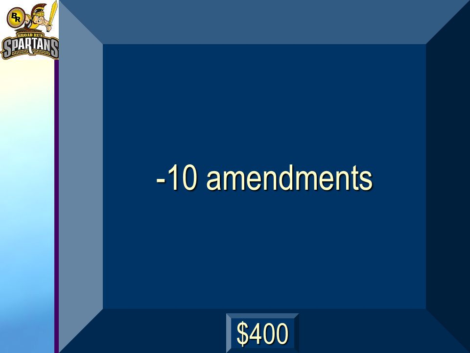 How many amendments are in The Bill of Rights? next