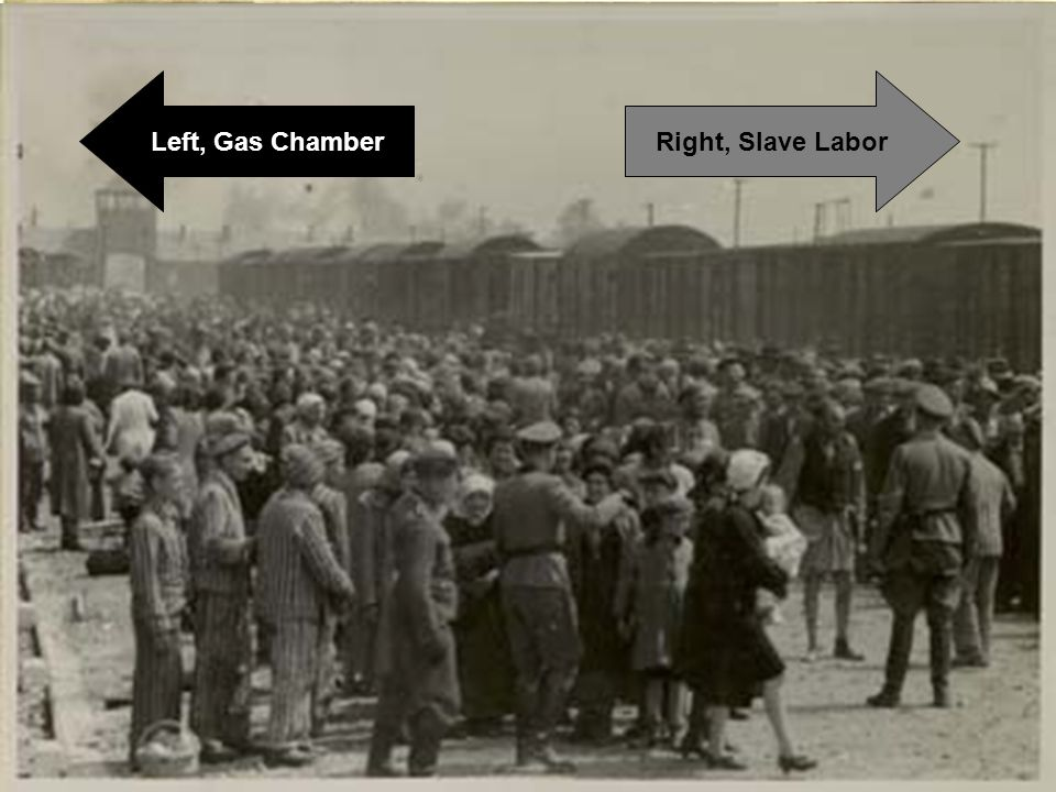 Right, Slave LaborLeft, Gas Chamber
