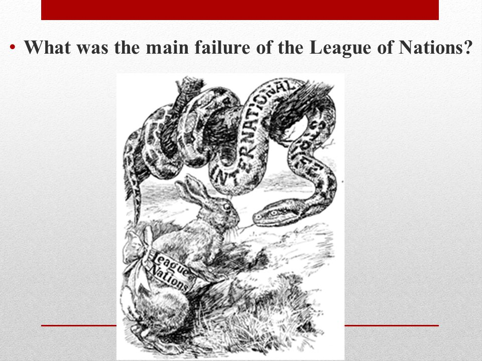 What was the main failure of the League of Nations?