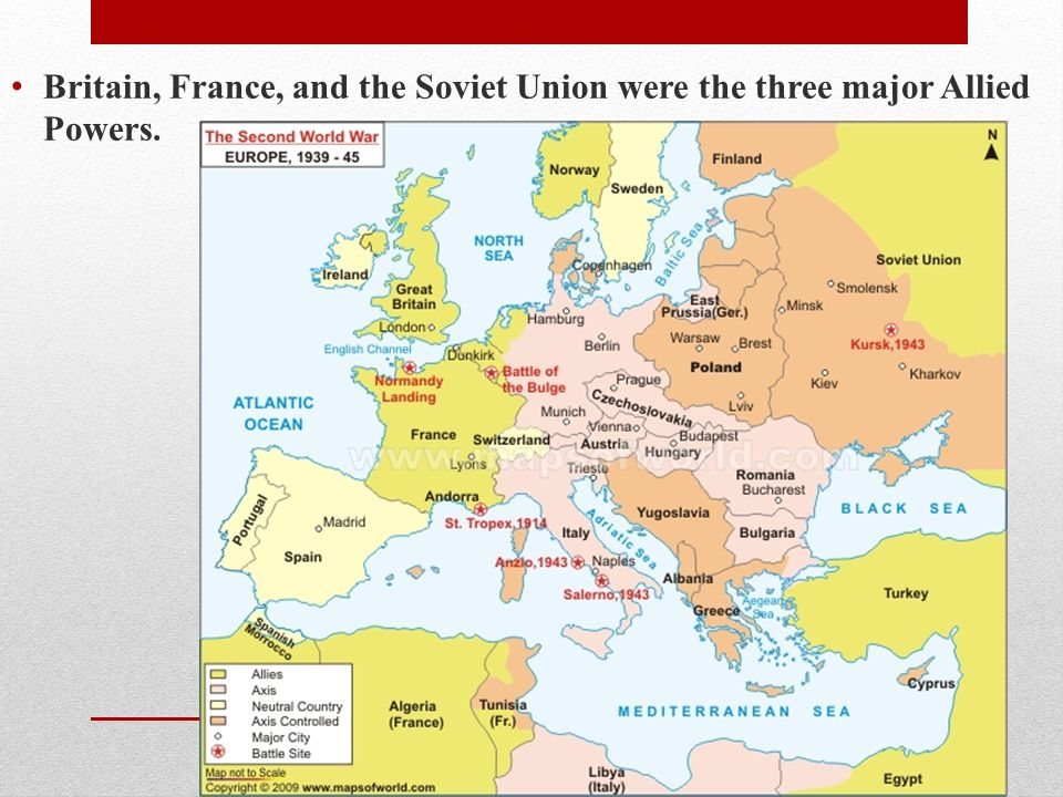 Britain, France, and the Soviet Union were the three major Allied Powers.