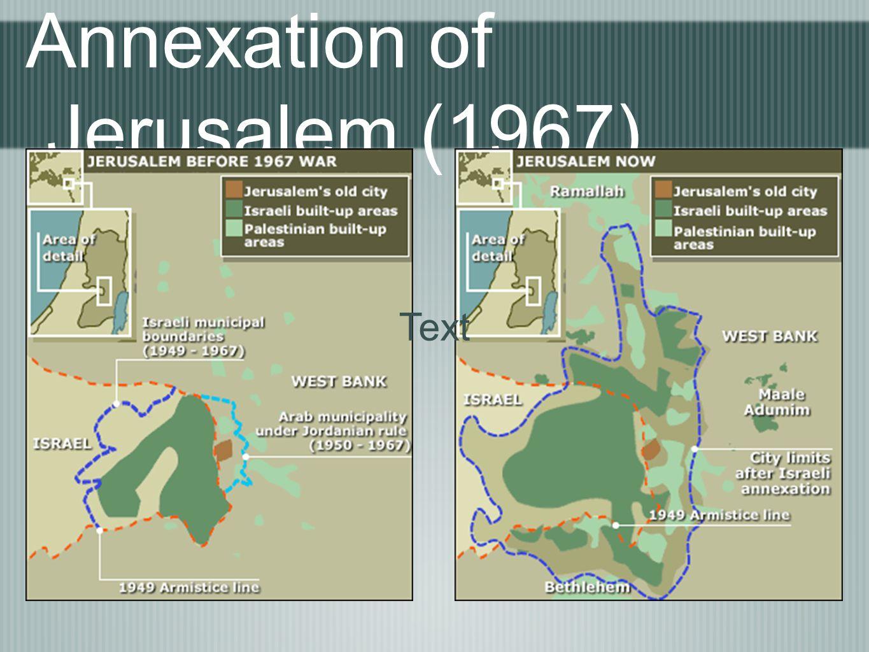 Annexation of Jerusalem (1967) Text