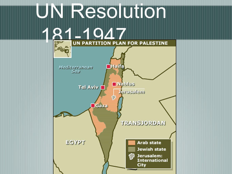 UN Resolution 181-1947