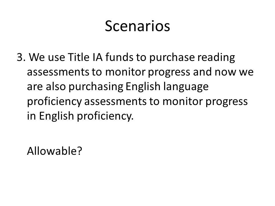 Scenarios 3.