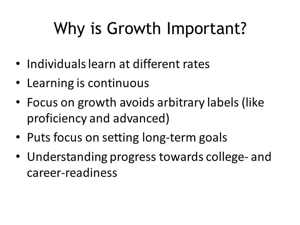 Why is Growth Important.