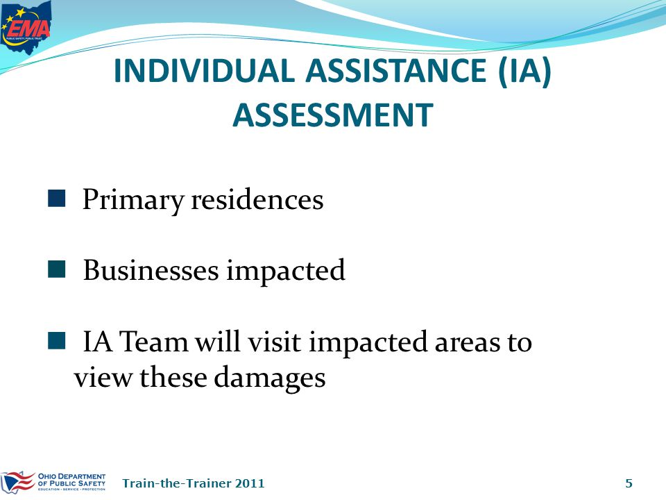 IA ASSESSMENT DEGREES OF DAMAGE 16Train-the-Trainer 2011