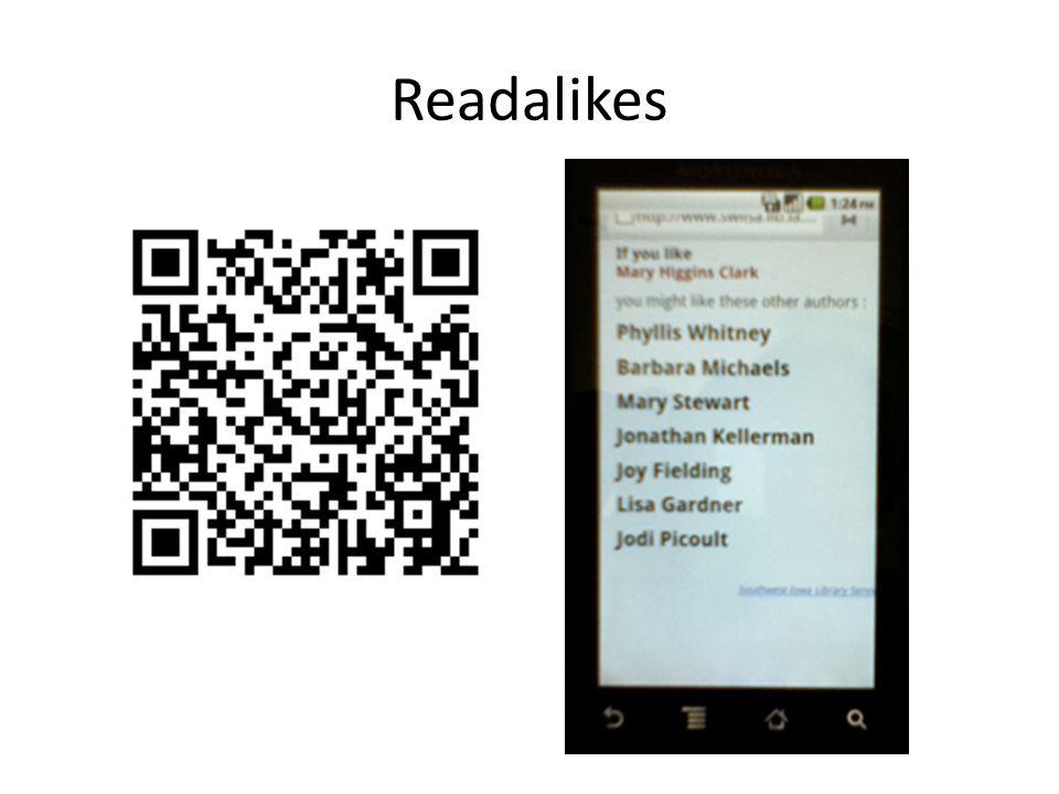 Readalikes