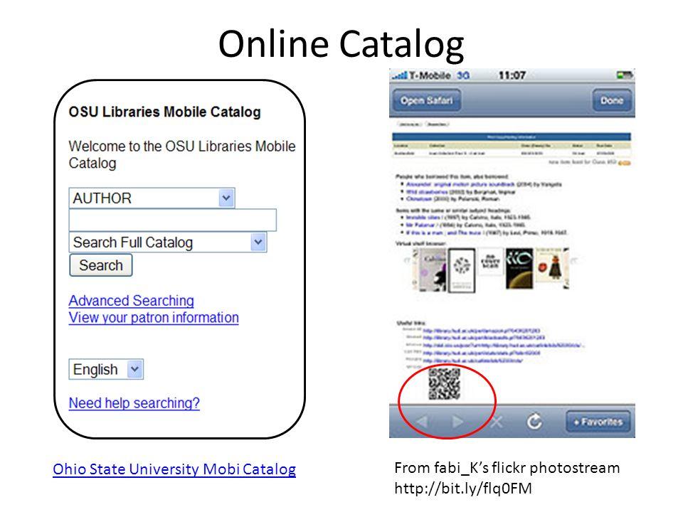 Online Catalog From fabi_K's flickr photostream http://bit.ly/flq0FM Ohio State University Mobi Catalog