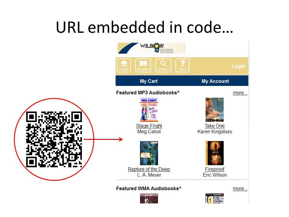 URL embedded in code…