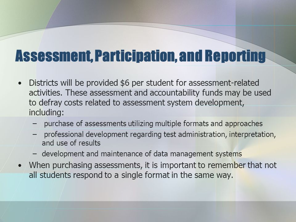 Assessment, Participation, and Reporting The number of students in a subgroup for proficiency (AMO) is 30 and the reporting number is 10.
