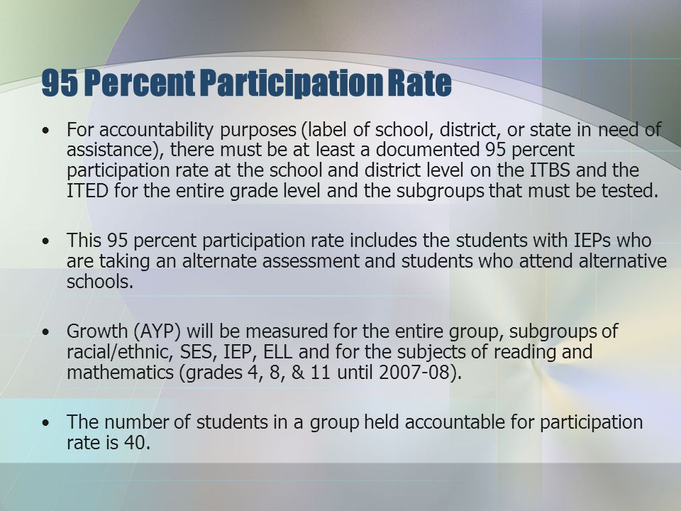 Assessment, Participation, and Reporting Districts will be provided $6 per student for assessment-related activities.