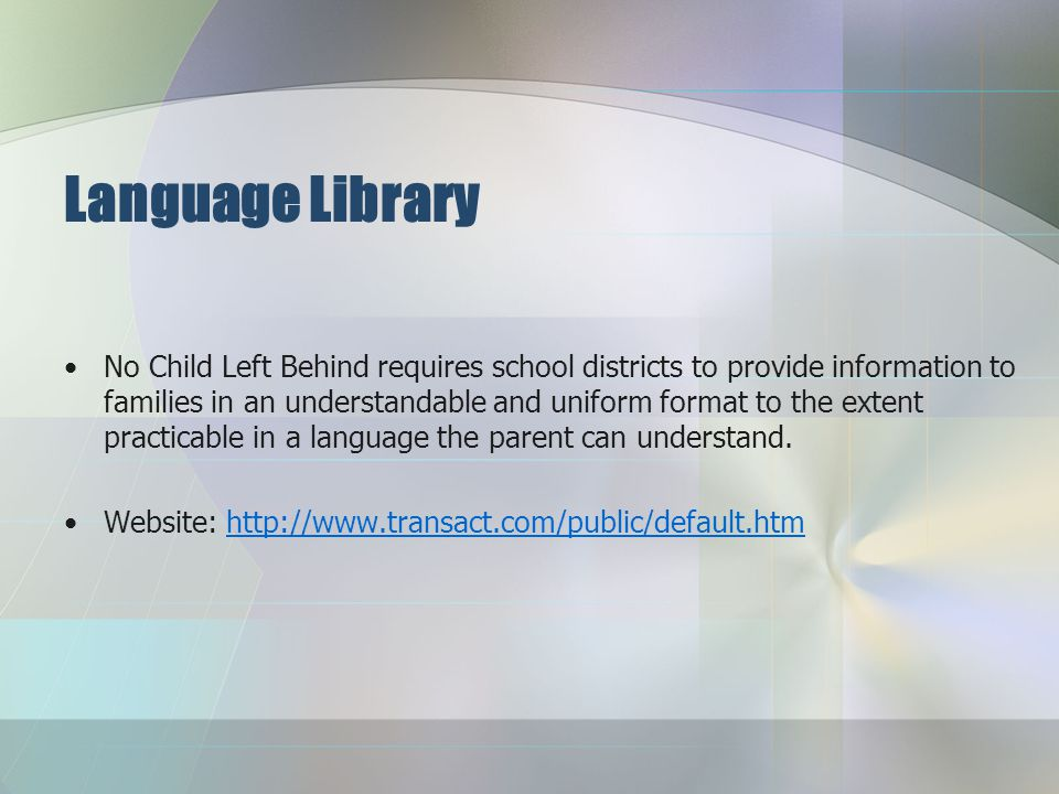 ELL Students' English Proficiency All ELLs (K-12) must participate in the English language proficiency testing of their listening, speaking, reading,