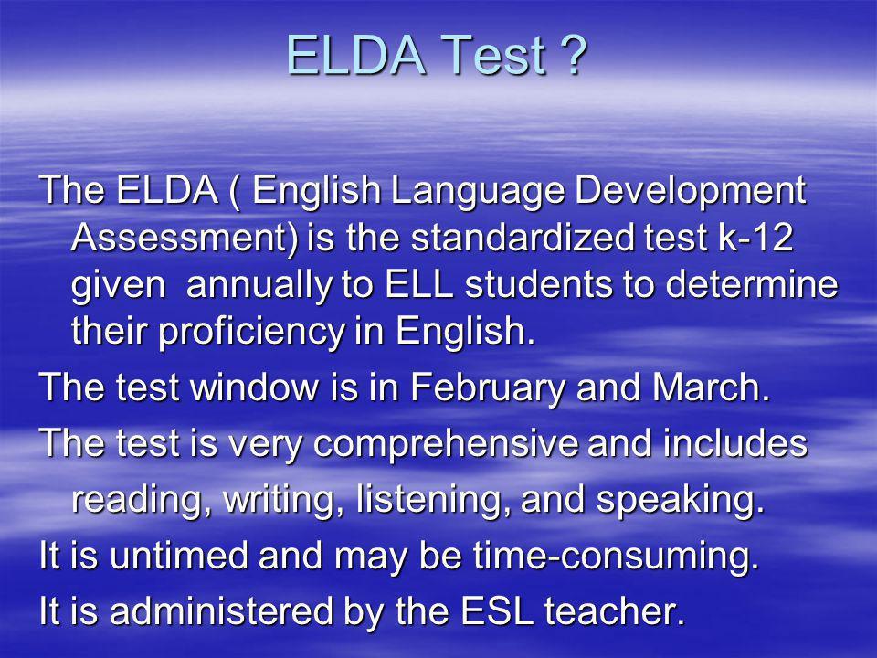 ELDA Test .