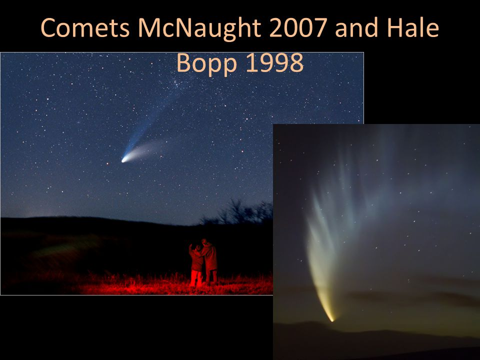 Comets McNaught 2007 and Hale Bopp 1998