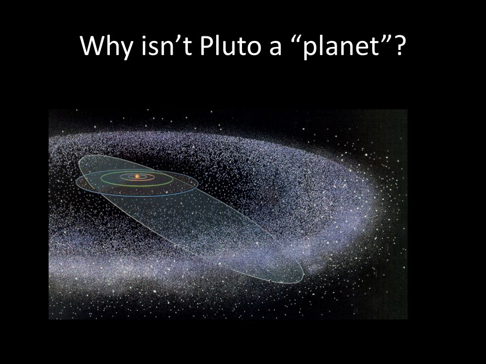 Why isn't Pluto a planet ?
