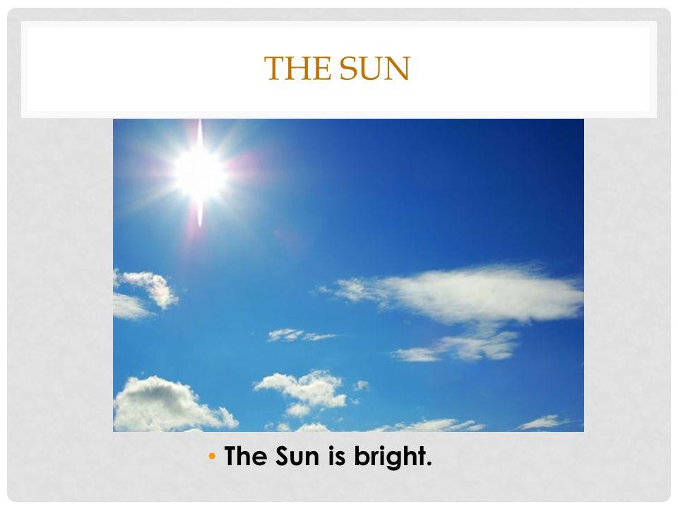 THE SUN The Sun is bright.