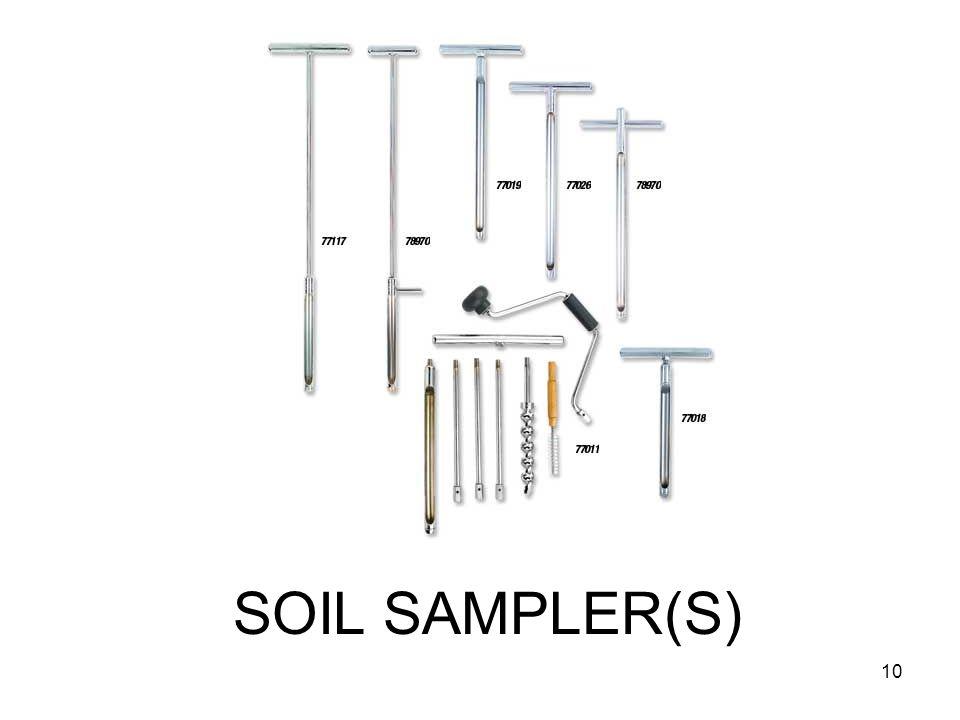 SOIL SAMPLER(S) 10
