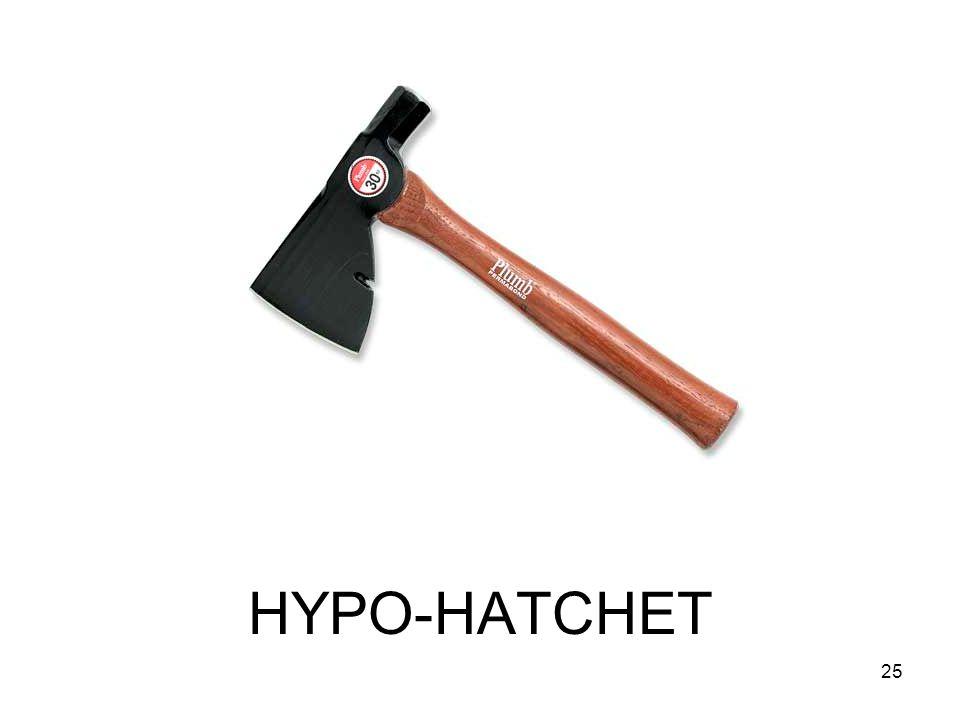 HYPO-HATCHET 25