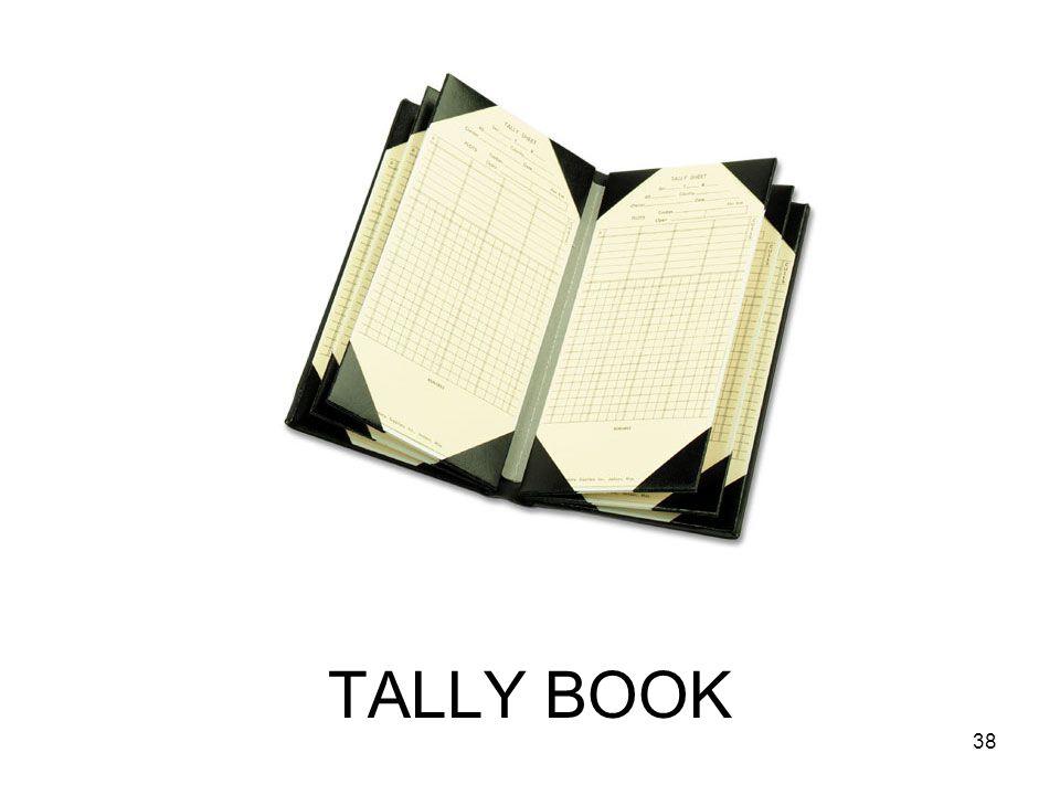 TALLY BOOK 38