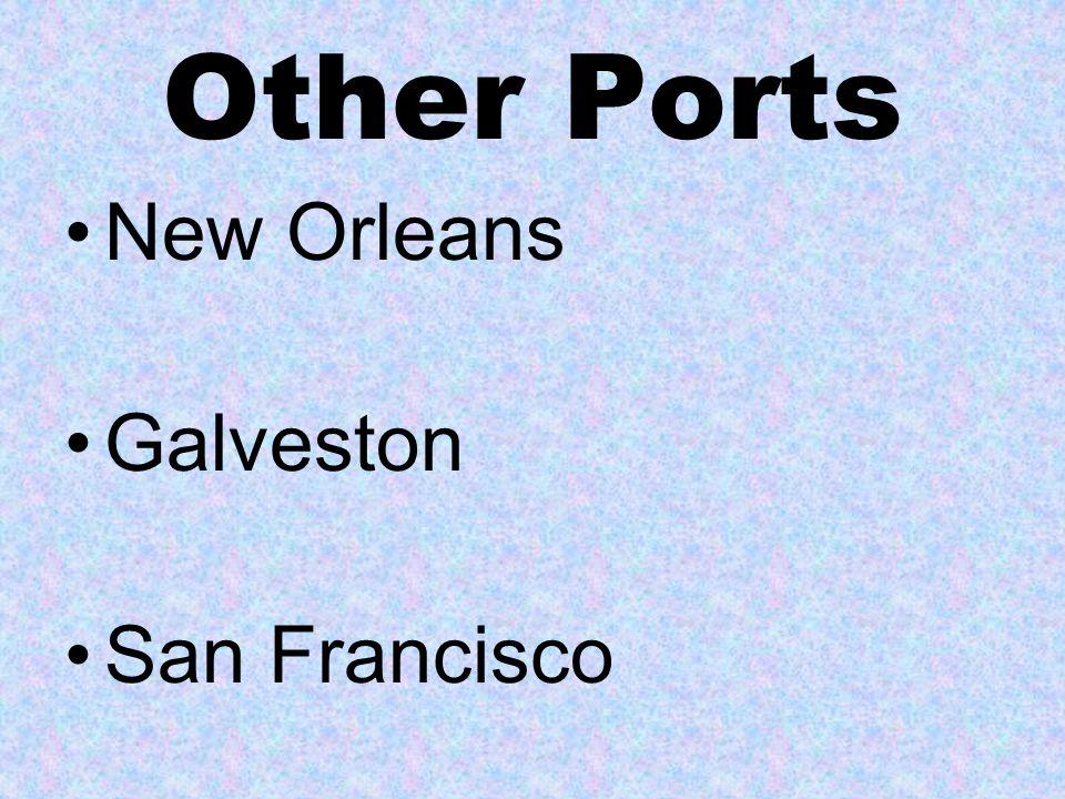 Some immigrants entered through other east coast ports Boston Philidelphia Baltimore