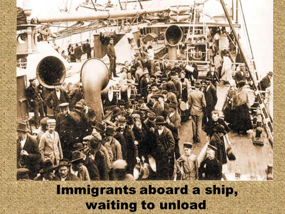 If you had the most expensive tickets, 1 st or 2 nd class, you were examined aboard the ship. If you passed you were free to enter the country.