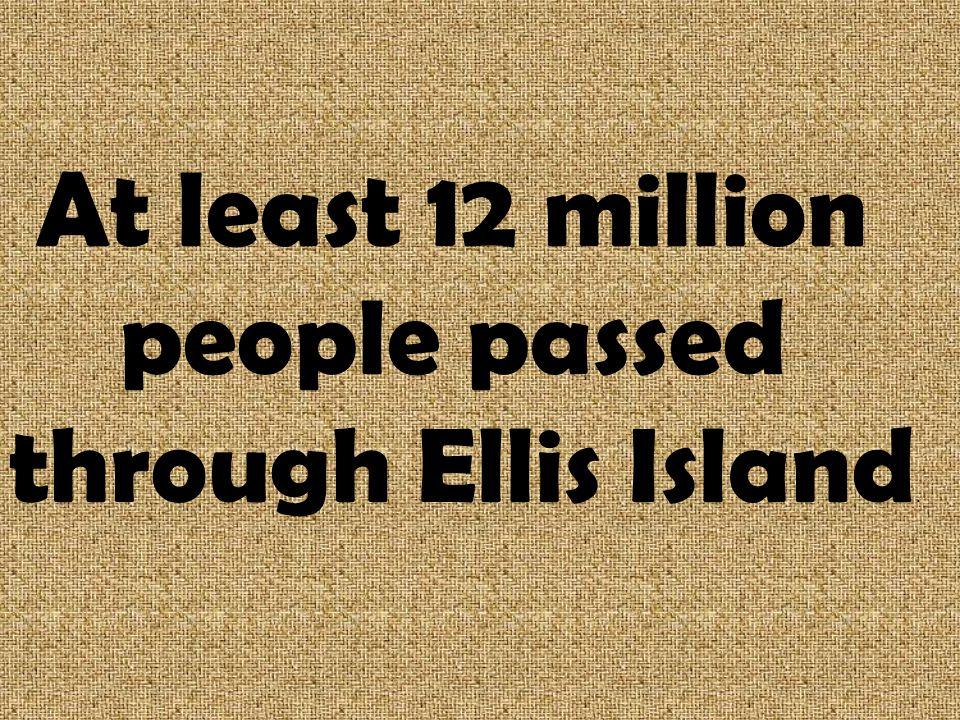 When was Ellis Island opened? 1892
