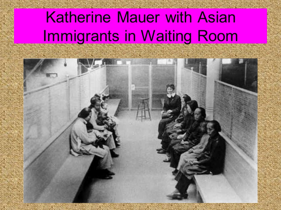 Japanese Picture Brides Arriving at Ellis Island