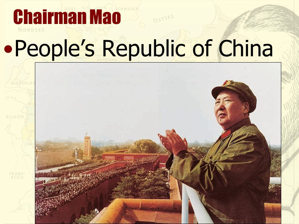 Chairman Mao People's Republic of China