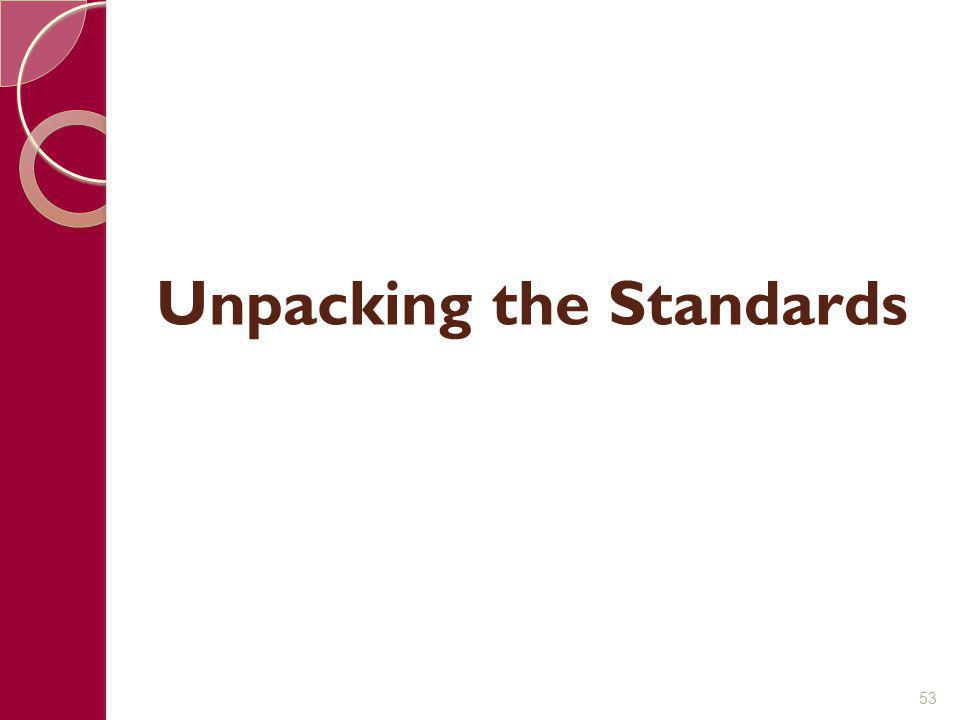 Unpacking the Standards 53