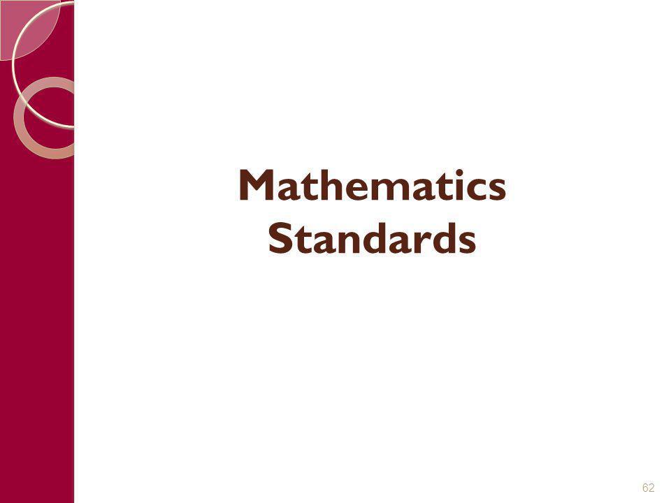 Mathematics Standards 62