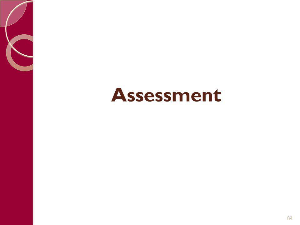 Assessment 84