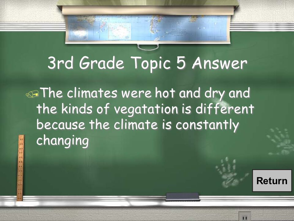 3rd Grade Topic 5 Question / What are the climates of Africa and what kind of vegetation is grown there