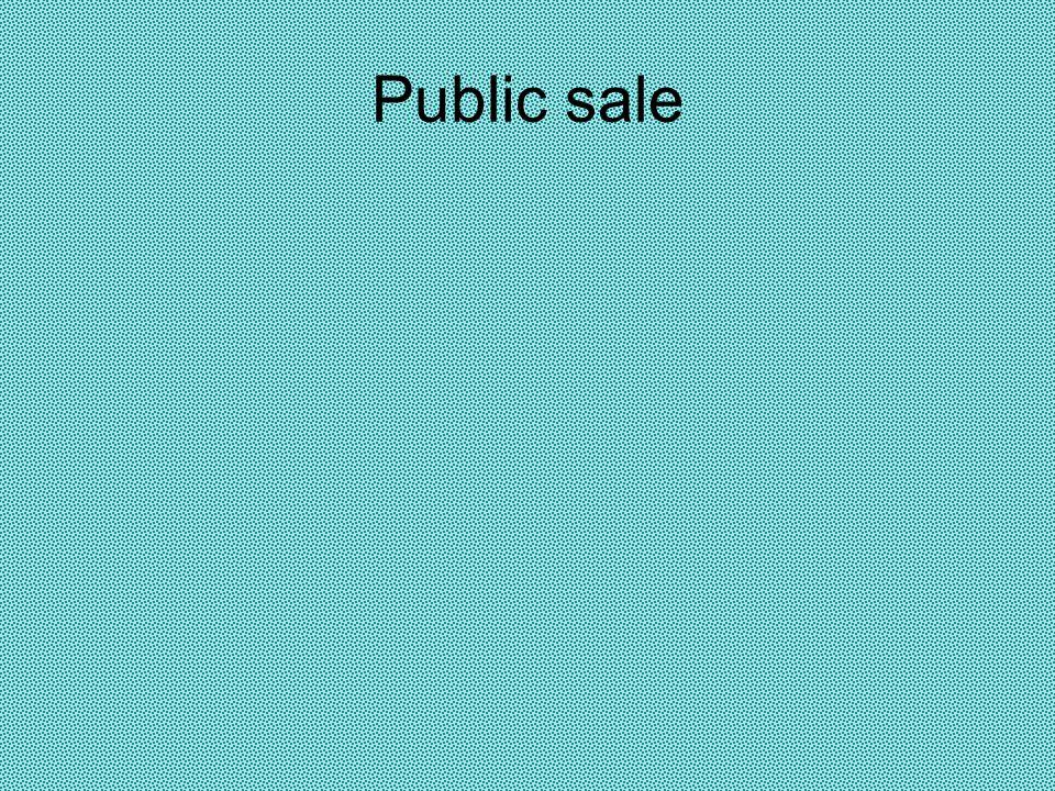 Public sale