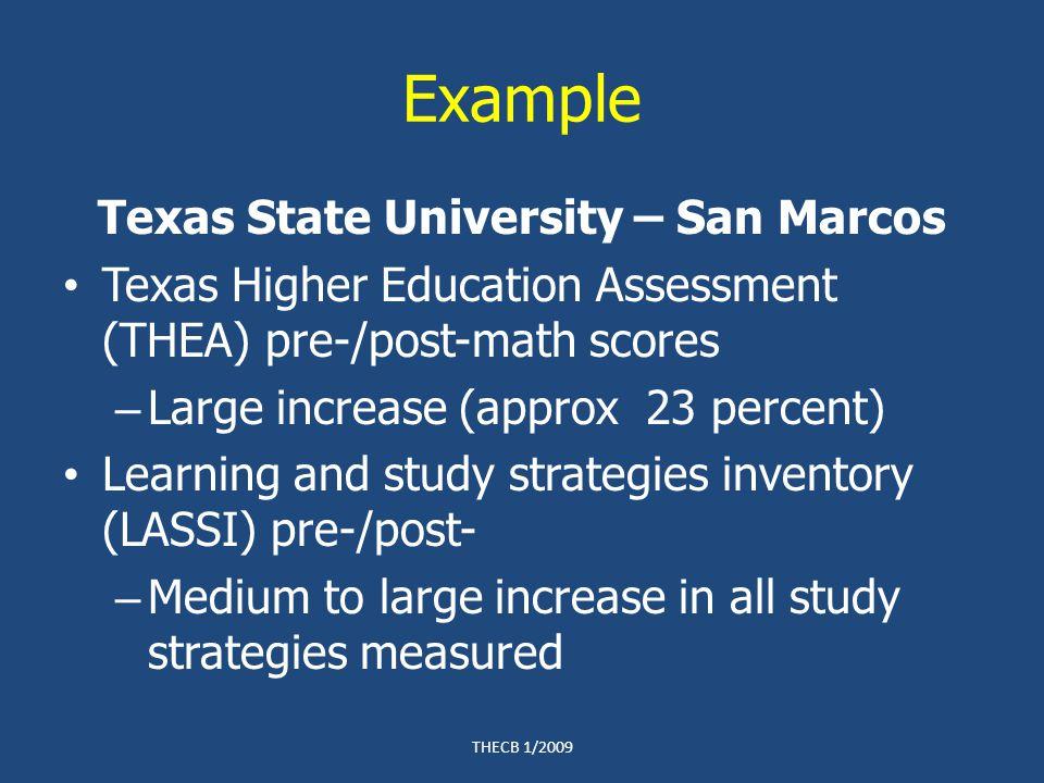 Assuring Compliance Program Evaluation Financial THECB 1/2009