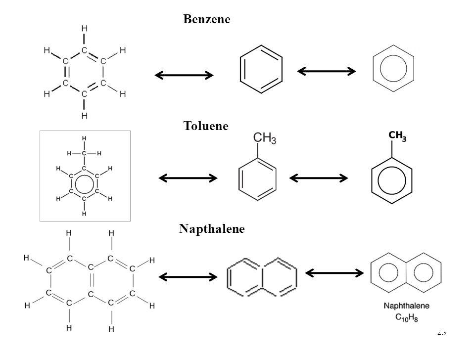 23 Napthalene Benzene Toluene