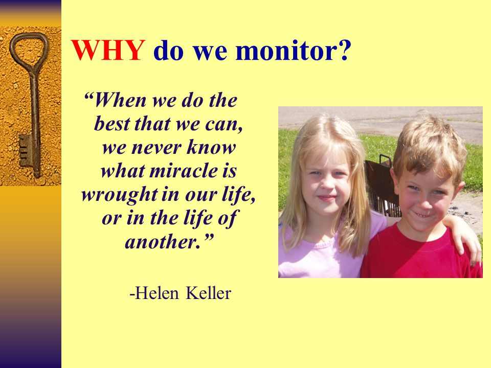 "STOP Individually create a metaphor (simile) that completes this sentence: ""Monitoring is like ______because ________."""