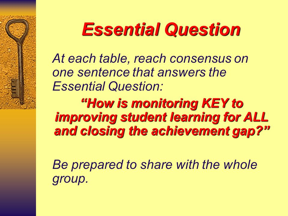 Walkabout….  In groups, walk around the room and write all possible responses to the questions posted on flip charts. 1. What is monitoring? 2. Why i