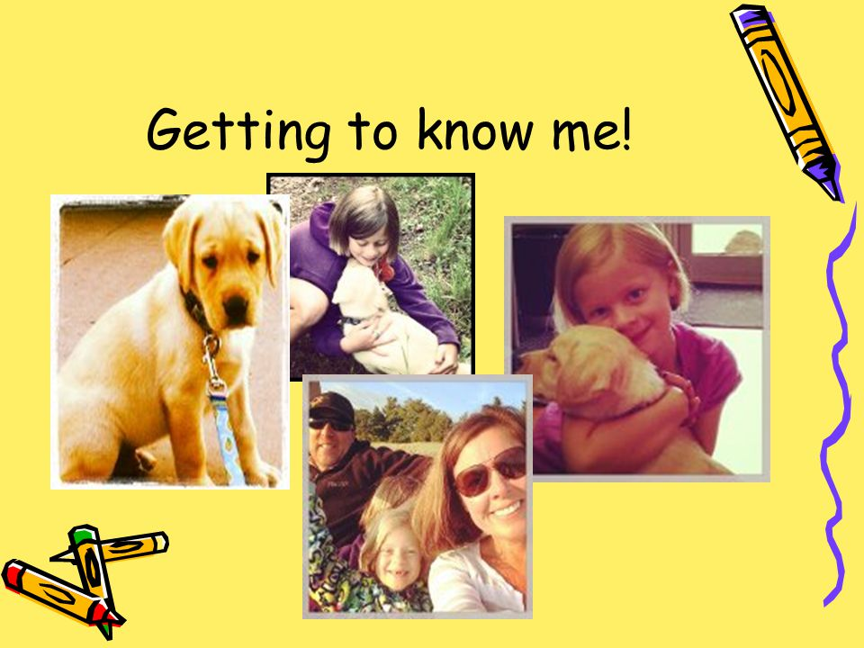 Getting to know me!