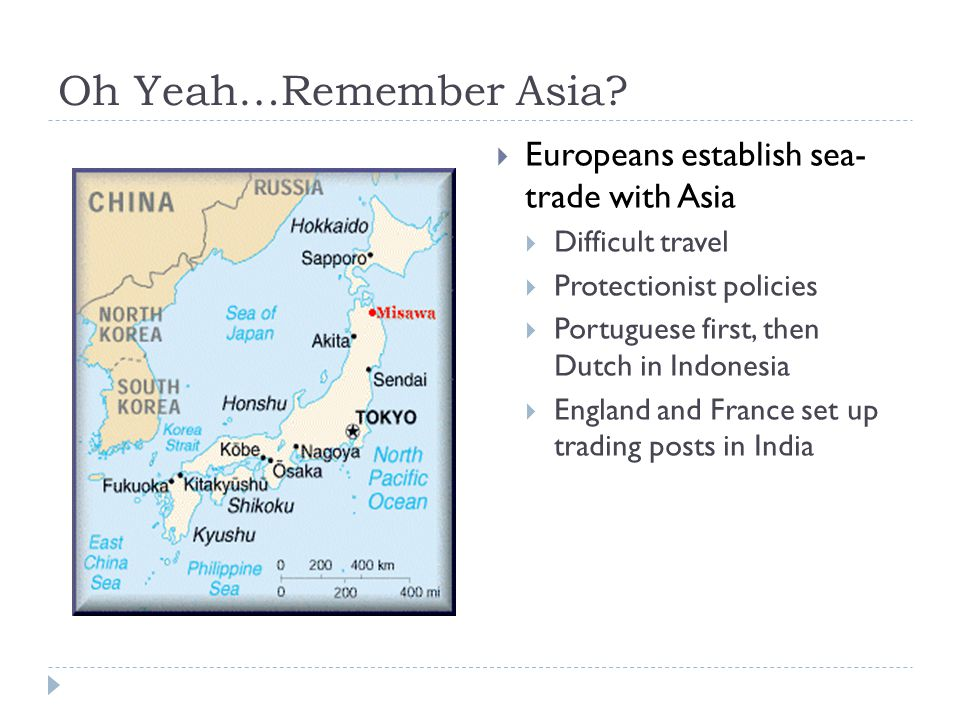 Oh Yeah…Remember Asia.