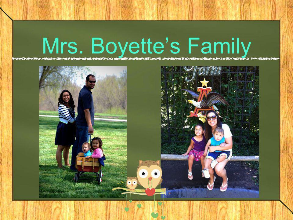 Mrs. Boyette's Family