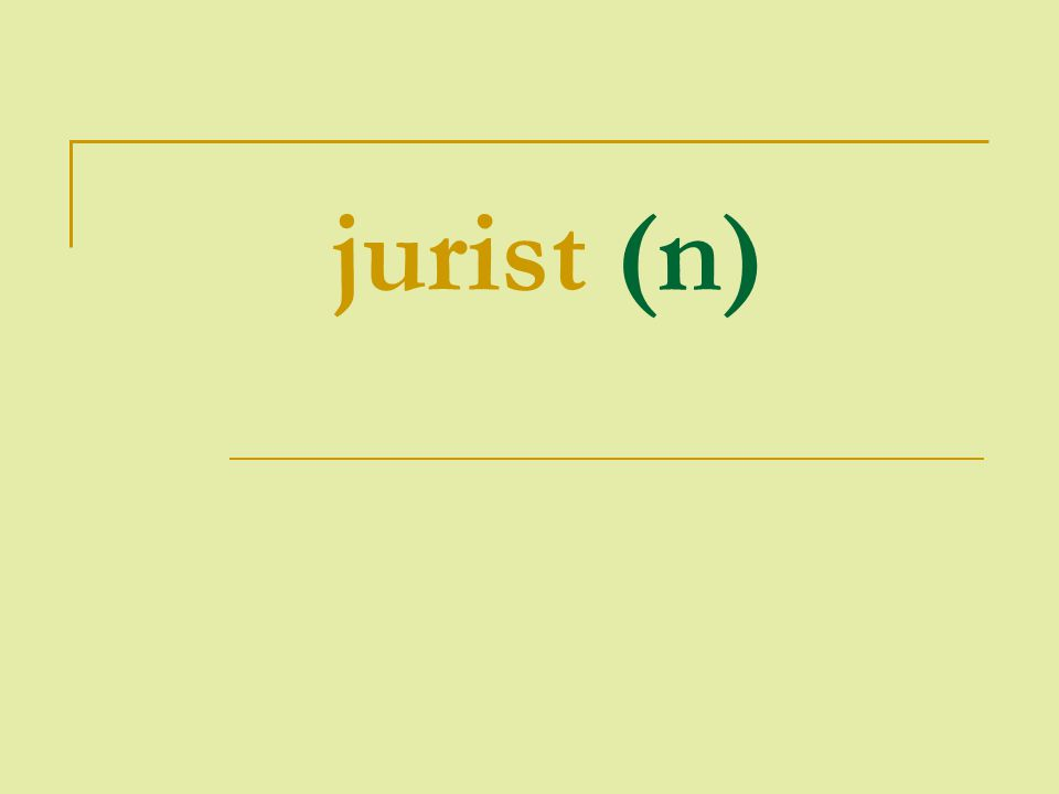 jurist (n)