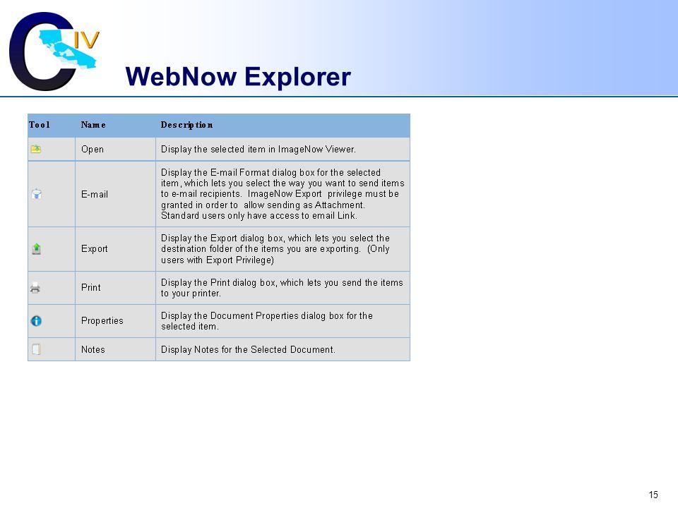 15 WebNow Explorer