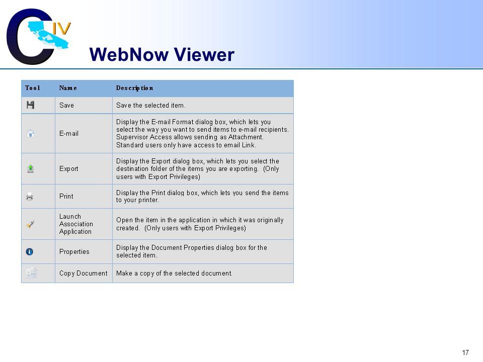 17 WebNow Viewer