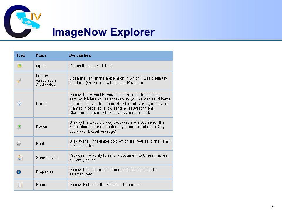 9 ImageNow Explorer