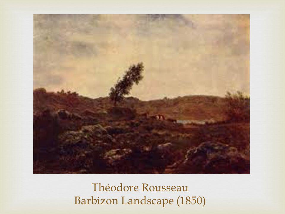 Théodore Rousseau Barbizon Landscape (1850)
